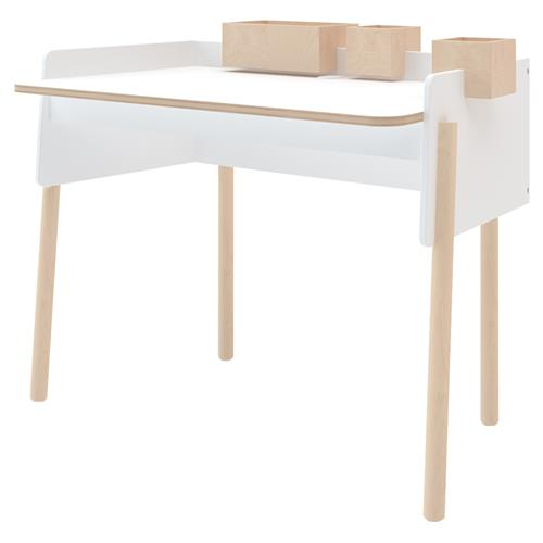 Brooklyn Oeuf Adjustable White Birch Desk | Kathy Kuo Home