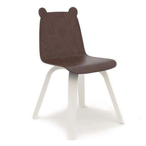 Bear Play Chairs by Oeuf - Walnut - Set of 2 | Kathy Kuo Home