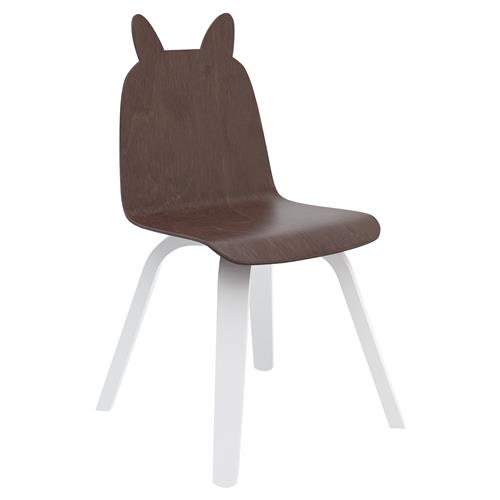 Rabbit Play Chairs by Oeuf - Walnut - Set of 2 | Kathy Kuo Home