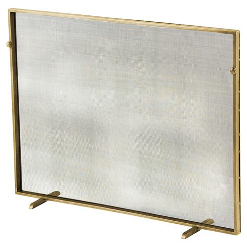 modern classic simple iron fireplace screen gold kathy