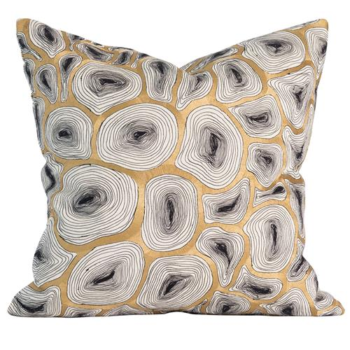 Modern Maples Pillow : Maple Modern Gold Agate Ring Pillow - 20x20 Kathy Kuo Home