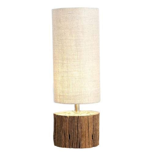 Sebasco Rustic Wood Log Accent Lamp | Kathy Kuo Home