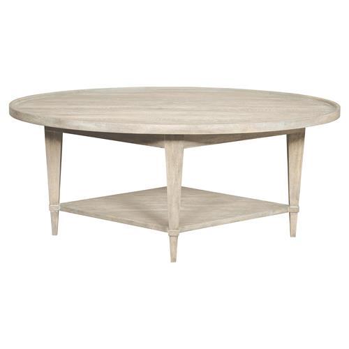 Faine Coastal Rustic White Cedar Oval Coffee Table Kathy Kuo Home