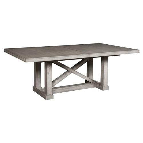 "Michael Weiss Falkner Rustic Grey Cedar Wood Extendable Dining Table - 84""-124"" 