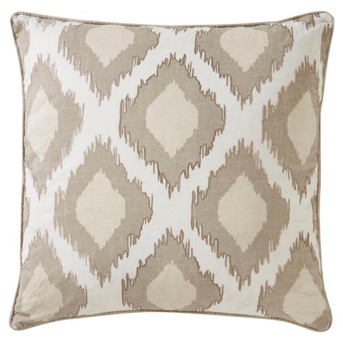 Nevaeh Global Natural Glam Medallion Linen Pillow - 22x22 | Kathy Kuo Home