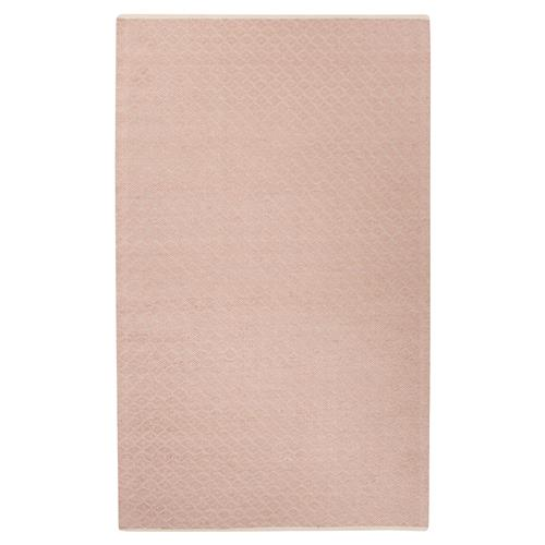 Daisy Regency Geometric Pink Sheen Flat Weave Rug - 5x8 | Kathy Kuo Home