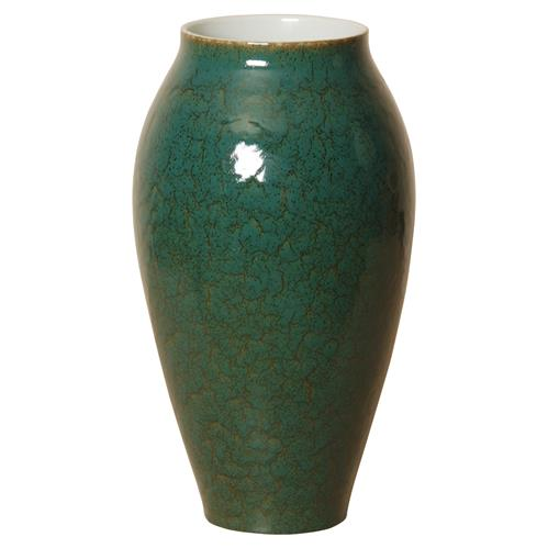 Emory Bazaar Forest Green Tall Ceramic Vase | Kathy Kuo Home