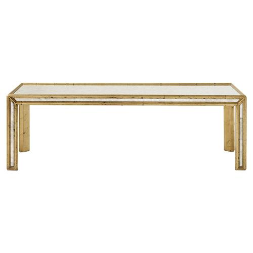 oriana antique gold mirrored coffee table kathy kuo home