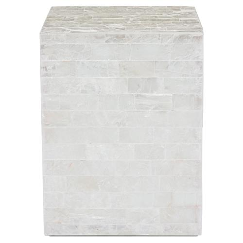 Fadim Global Bazaar Alabaster Gypsum Mosaic End Table | Kathy Kuo Home