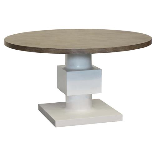 leonara coastal white pedestal rustic round wood dining table kathy