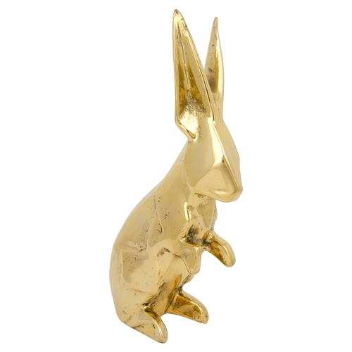 Bunny Rabbit Antique Brass Sculpture | Kathy Kuo Home