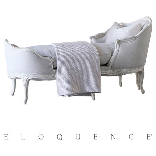 eloquence marie antoinette chaise in weathered white kathy kuo home. Black Bedroom Furniture Sets. Home Design Ideas