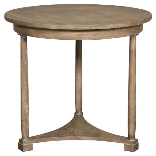 Vanguard Cyril Coastal Rustic Brown Cedar Side Table | Kathy Kuo Home