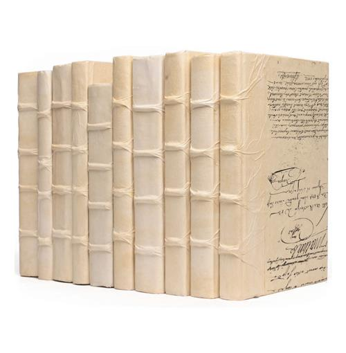 Linear Foot Solid Ivory Decorative Designer Books | Kathy Kuo Home