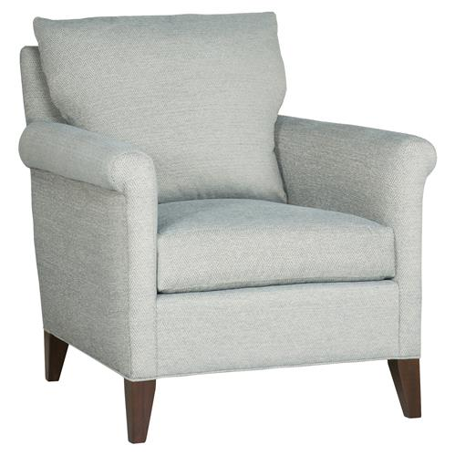 Vanguard Gwynn Coastal Diamond Weave Teal Blue Armchair | Kathy Kuo Home