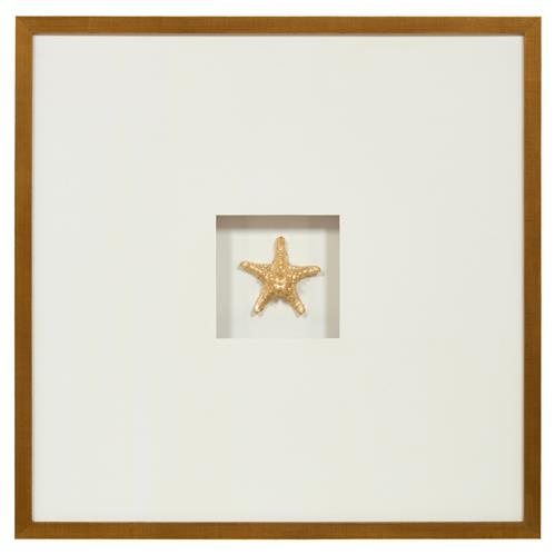 John-Richard Star Shell Coastal Gold Leaf Jewel Box Wall Art | Kathy Kuo Home