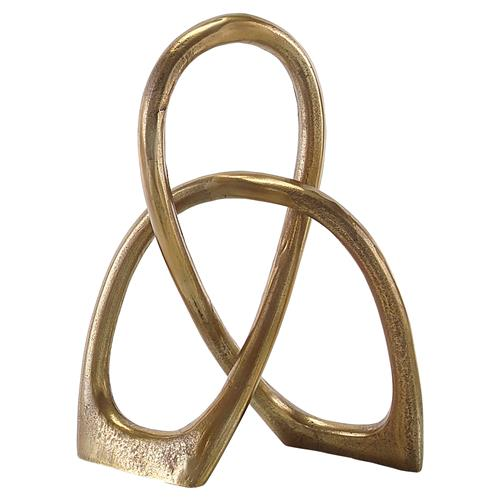 Entwined Modern Classic Brass Medium Sculpture | Kathy Kuo Home