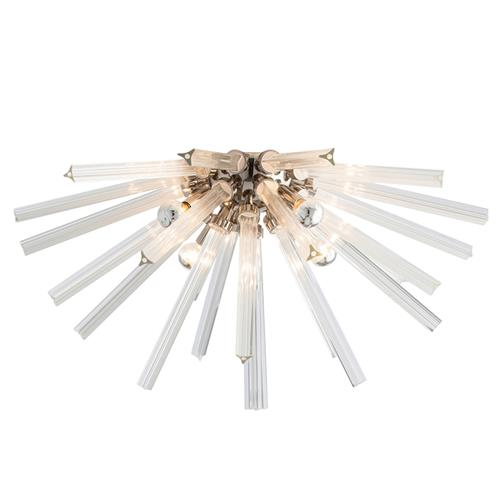Arteriors Hanley Modern Burst Glass Rod Nickel Ceiling Mount | Kathy Kuo Home
