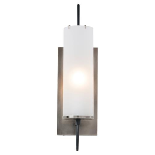 Arteriors Stefan Modern Frosted Glass Antique Silver Sconce | Kathy Kuo Home