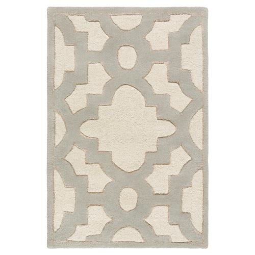 Florian Regency Ivory Medallion Trellis Wool Rug - 2' x 3' | Kathy Kuo Home