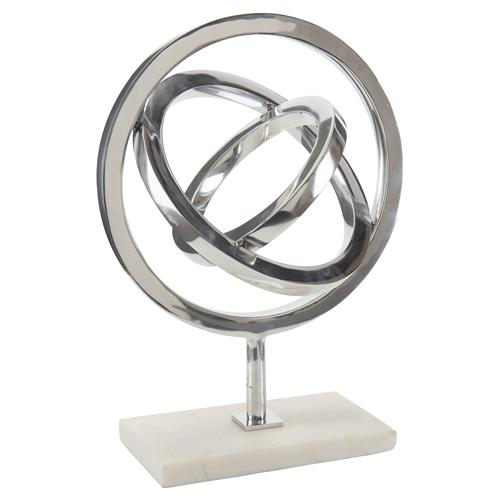Pavegen Kinetic Silver Modern Marble Sculpture | Kathy Kuo Home