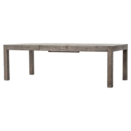 Landra Rustic Lodge Reclaimed Wood Parson Dining Table | Kathy Kuo Home