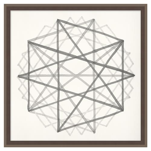 Edison Metraton Soft Grey Geometric Contemporary Art | Kathy Kuo Home