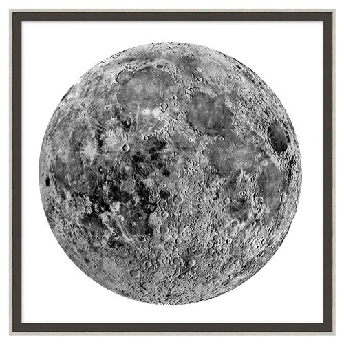 Luna Moon Burlap Trim Wall Art - II | Kathy Kuo Home