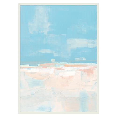 Ava Pastel Blue Pink Watery Abstract Canvas - I | Kathy Kuo Home