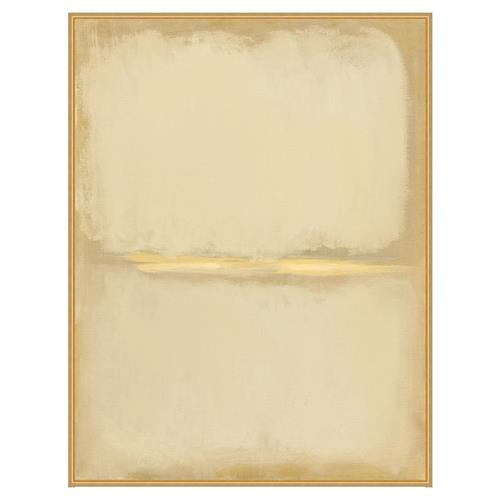 Eden Gold Perspective Beige Abstract Giclee Canvas - II | Kathy Kuo Home