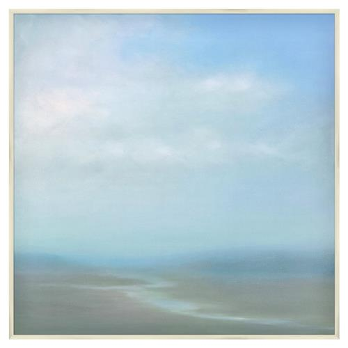 Katelyn Blue Abstract Giclee Canvas Painting | Kathy Kuo Home