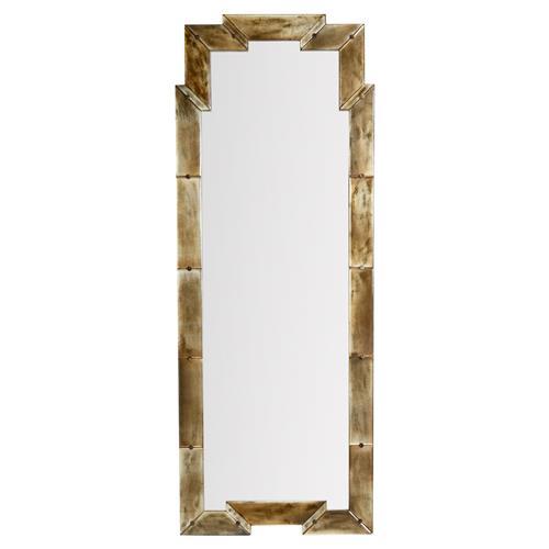 Nasir global bazaar reactive gold wood mirror tall for Tall gold mirror
