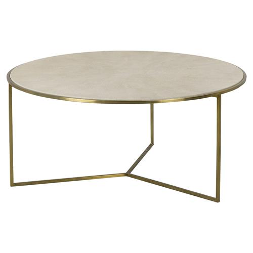 regency linen shagreen round brass coffee table kathy kuo home