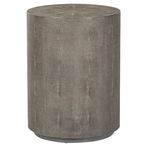 Maison 55 Braden Drum Regency Round Charcoal Shagreen End Table | Kathy Kuo Home