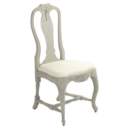 Sauville French Country Grey Cabriole Side Chair | Kathy Kuo Home
