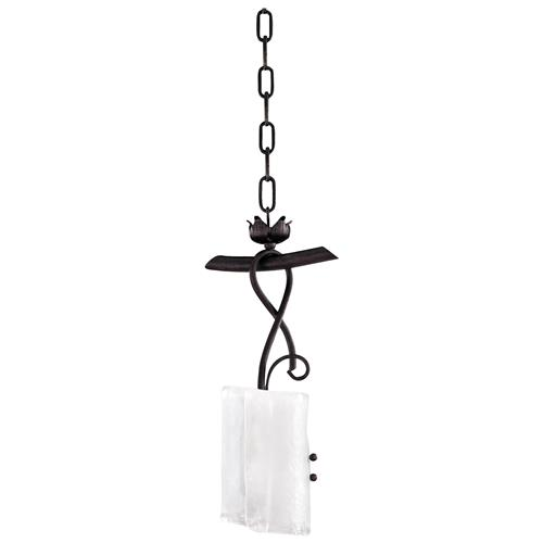 Somerset Wrought Iron Organic Sculpted 1 Light Drop Pendant | Kathy Kuo Home