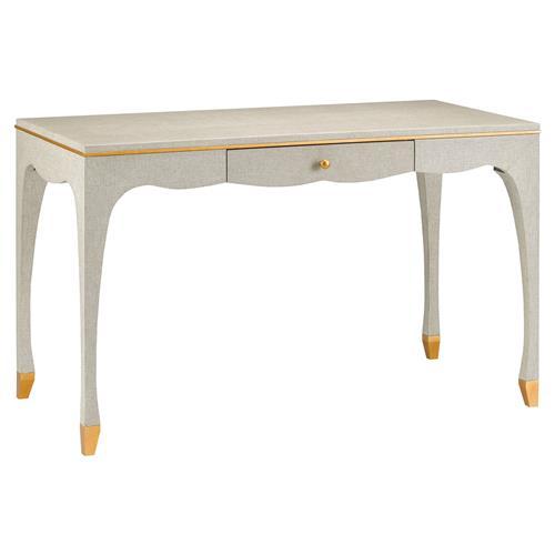 Lange Smalle Sidetable.Lange Regency Lacquered Linen Gold Trim Small Desk