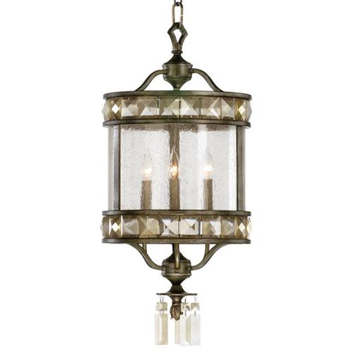 Buckingham Victorian Champagne Crystal 3 Light Entryway Chandelier | Kathy Kuo Home