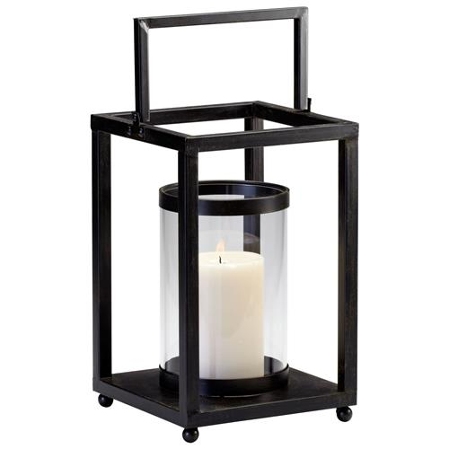 Oregon Black Iron Contemporary Modern Candle Lantern | Kathy Kuo Home