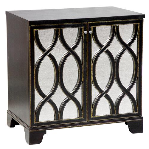 Oly Studio Elisabeth Antique Mirror Brown Nightstand | Kathy Kuo Home