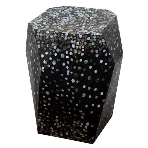 Oly Studio Twilite Mother of Pearl Black End Table | Kathy Kuo Home