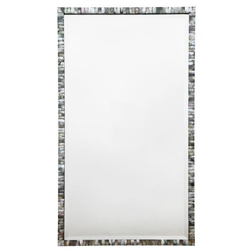 Oly Pearl Rectangular Large Grey Mirror | Kathy Kuo Home