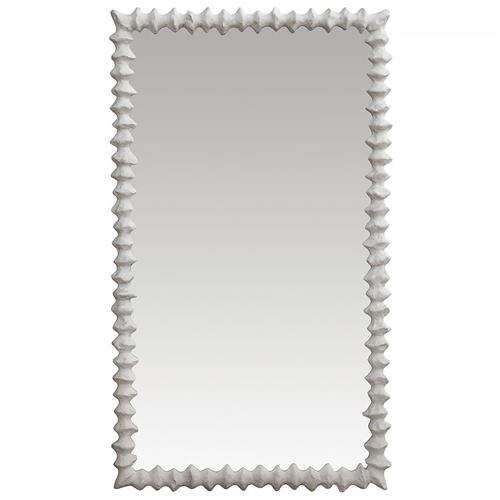 Oly Studio Clyde Frost White Wall Mirror - 42H | Kathy Kuo Home