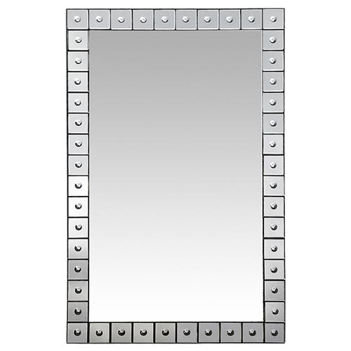 Andre Oly Carved Border Mirror - 47.5H | Kathy Kuo Home