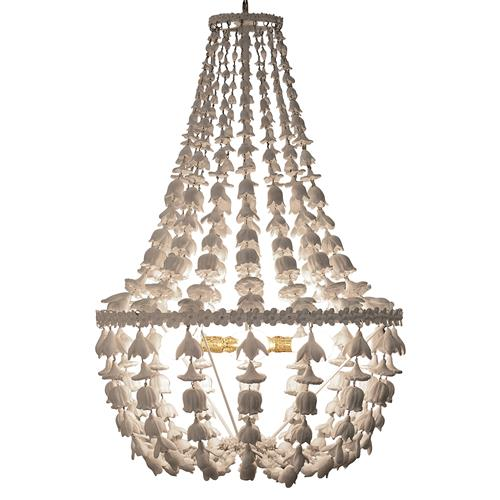 Oly Studio Flower Drop Frost White Chandelier | Kathy Kuo Home
