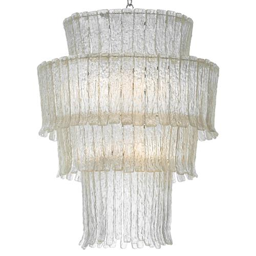Oly Studio Gisele Clear Waterfall Chandelier | Kathy Kuo Home