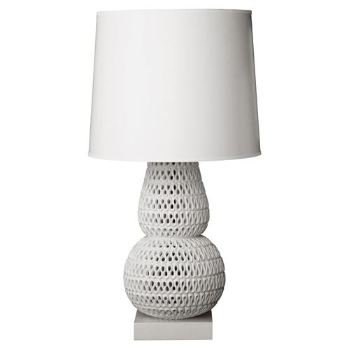 Oly Studio Pipa White Ribbon Table Lamp | Kathy Kuo Home