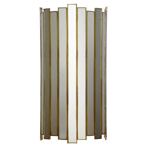 Oly Studio Grayson Gold Frame Rounded Mirror Studio Sconce | Kathy Kuo Home