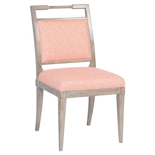 Vanguard Maria Coastal Coral Dotted Grey Side Chair | Kathy Kuo Home