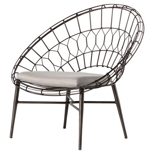 albin loft sunburst metal outdoor lounge chair kathy kuo